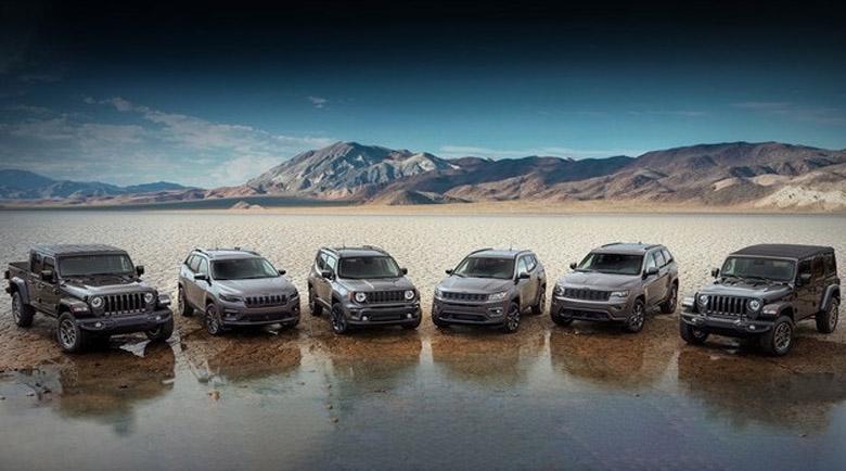 Моделите Jeep получават специални версии 80th Anniversary