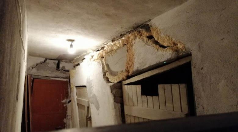 7-етажен блок в центъра на Пловдив се напука в основите
