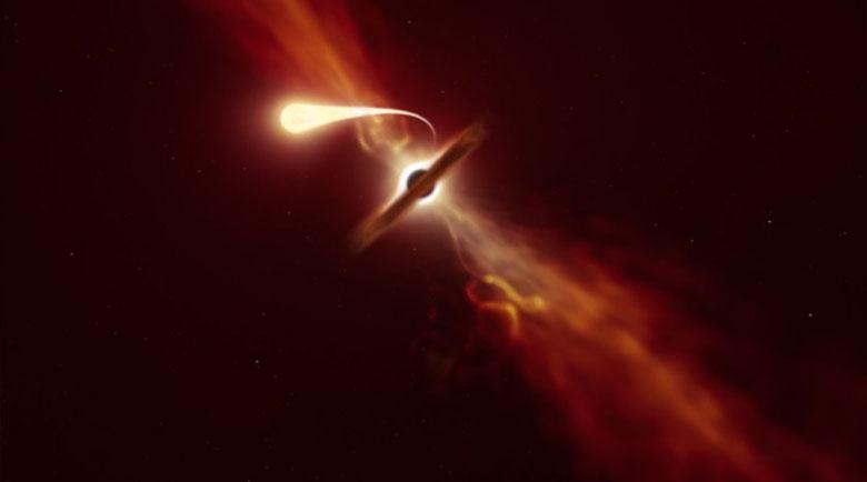 """Черните дупки """"ядат"""" звездите, превръщайки ги в спагети"""